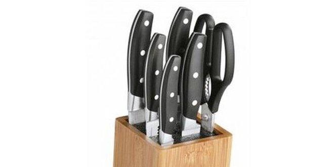7ks nožů včetně bambusového bloku