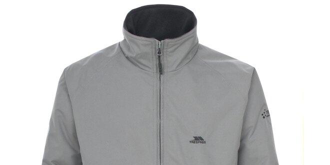 Pánská světle šedá nepromokavá bunda Trespass