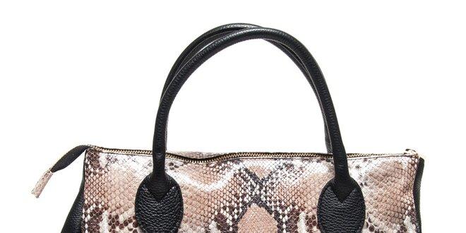 32821ddd08 Dámská černá kabelka s hadím vzorem Renata Corsi