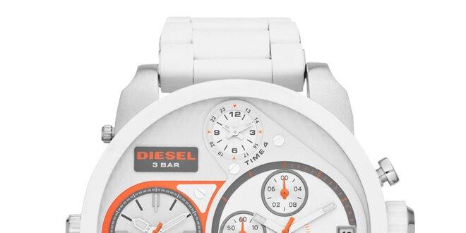 Pánské bílé hodinky Diesel s multifunkčním ciferníkem  60b19b9cb0