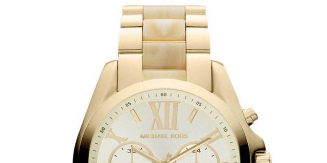 34a855aa1c Dámské hodinky zlaté barvy s římskými číslicemi Michael Kors ...