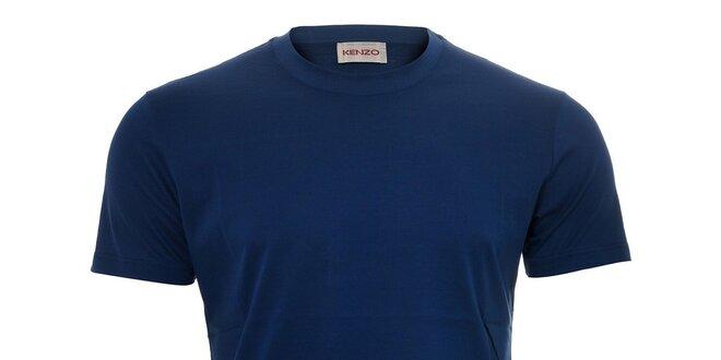 Pánské triko Kenzo v modré barvě s originálním potiskem na zádech ... a615c46430
