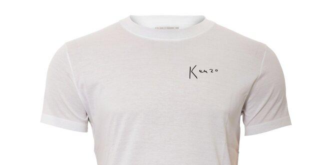 Pánské triko Kenzo v bílé barvě s originálním potiskem na zádech ... 842d444466