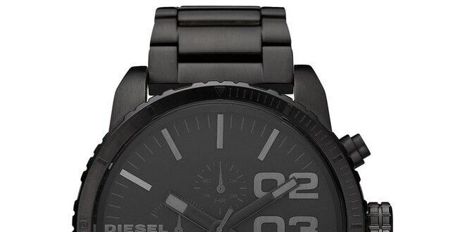 Pánské černé analogové ocelové hodinky Diesel  d2a311f517e