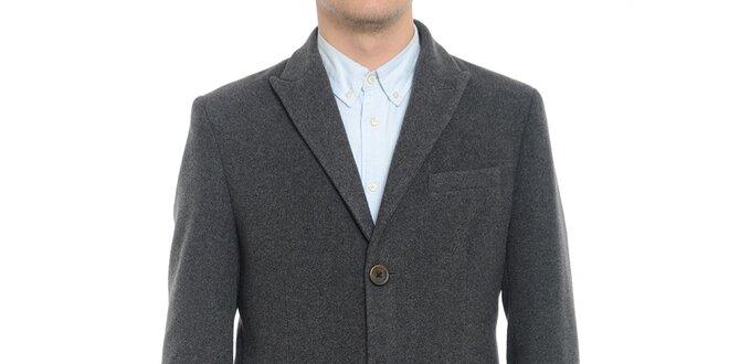 Pánský šedý kabát Vera Ravenna