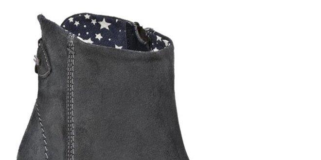 Dámské šedé kotníčkové boty Tommy Hilfiger  7e46e3dd93f