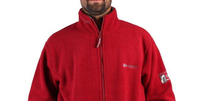 Pánská červená fleecová mikina Geographical Norway  bfbb1d284f