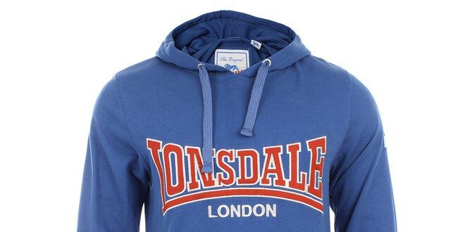 af0030f8d83 Pánská modrá slim fit mikina s kapucí Lonsdale