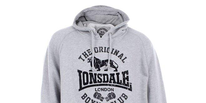Pánská šedá mikina s kapucí Lonsdale  ce45aac465