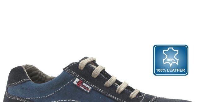Pánské modré semišové tenisky Beppi