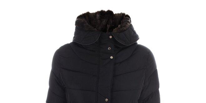 Dámská černá prošívaná bunda s páskem N & P