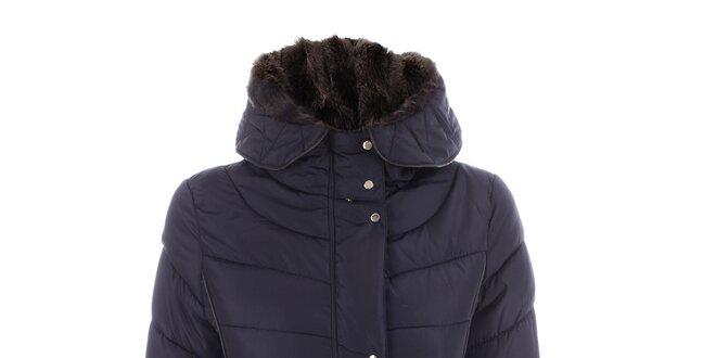 Dámská tmavomodrá prošívaná bunda s páskem N & P