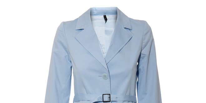 Světle modrý dámský jarní kabát Naf Naf