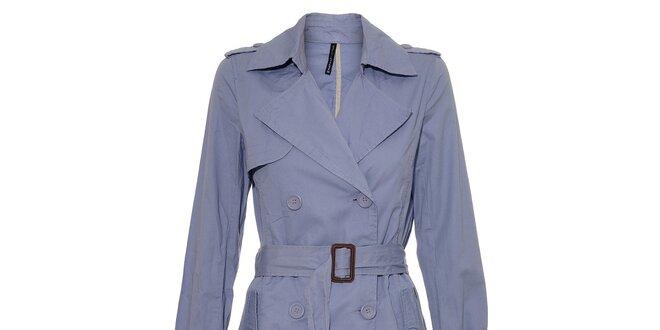 Světle fialový dámský jarní kabát Naf Naf