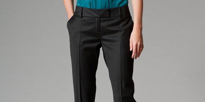 b6477515d04 Dámské černé kalhoty s puky Pietro Filipi