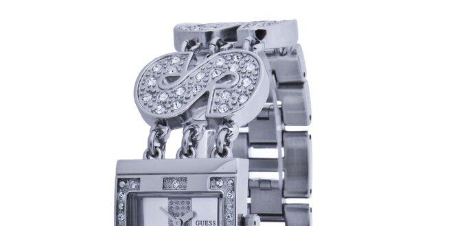 Dámské stříbrné náramkové hodinky Guess  43f9caacda