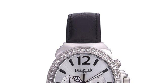 Dámské stříbrné analogové hodinky se Swarowski elementy Lancaster
