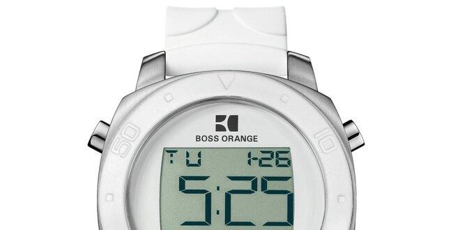 Pánské bílé digitální hodinky Hugo Boss Orange