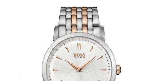 Pánské ocelové hodinky ve dvou barevných tónech Hugo Boss