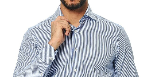 Pánská proužkovaná košile s dlouhým rukávem Uomini Italiani