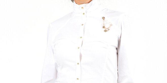 Dámské bílé body s ozdobou Isabel Queen  e559237d36
