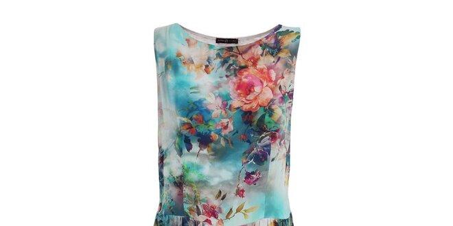 6ef8c2d825ee Dámské květované šaty s krajkou Pietro Filipi