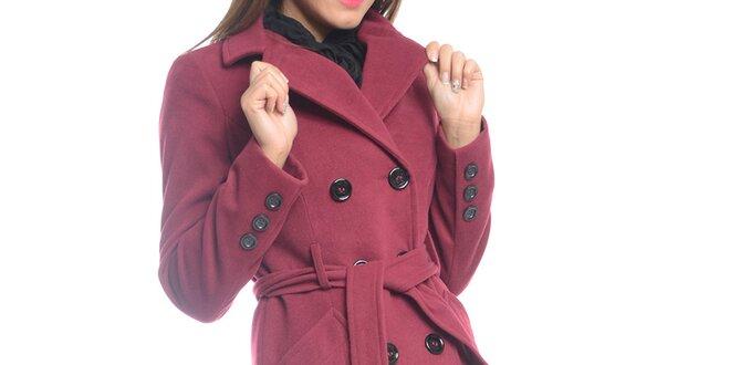 Dámský světle fialový kabát s páskem Vera Ravenna  6ca79e03ca2