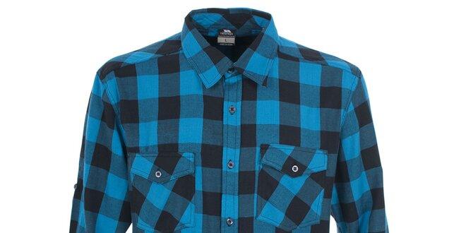 Pánská modrá košile s kostkovaným vzorem Trespass