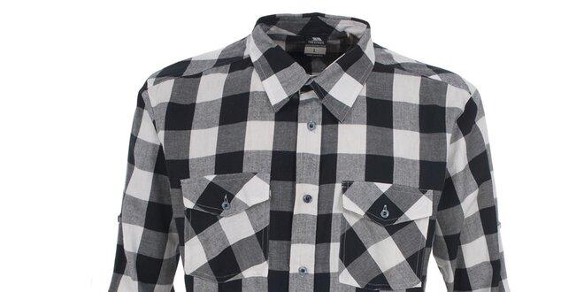 Pánská bílá košile s kostkovaným vzorem Trespass