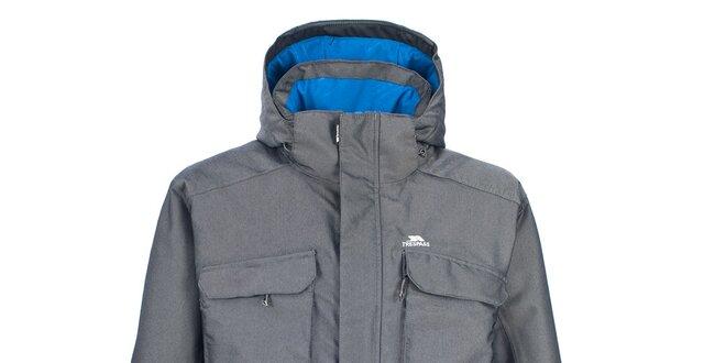 Pánská šedá zimní bunda s velkými kapsami Trespass