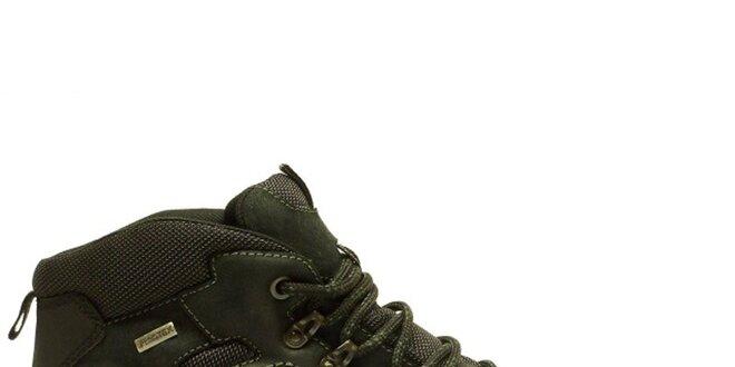 Pánské kotníkové černé trekové boty na zimu Numero Uno  bf01302fbf