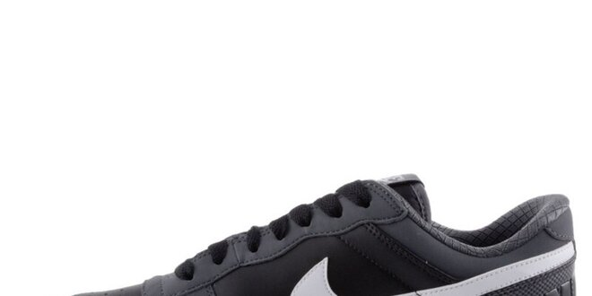 Pánské šedo-černé tenisky s bílými prvky Nike  66ca5cd1a5b