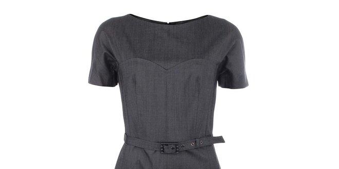 Dámské šedé vlněné šaty Pietro Filipi