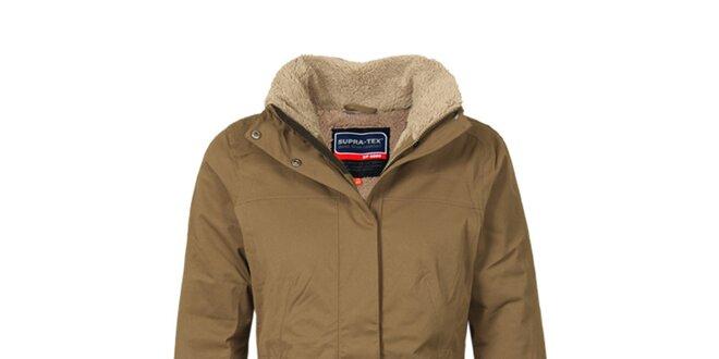 Dámský hnědý funkční kabát s podšívkou Bergson