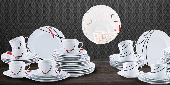 Sady 30 ks porcelánového nádobí Renberg