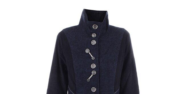 Dámský tmavě modrý kabát s knoflíky Dislay DY Design
