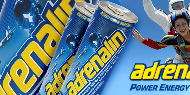 24 energetických drinků Adrenalin