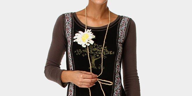 Dámské šaty se vzorovanou skládanou sukní Ian Mosh