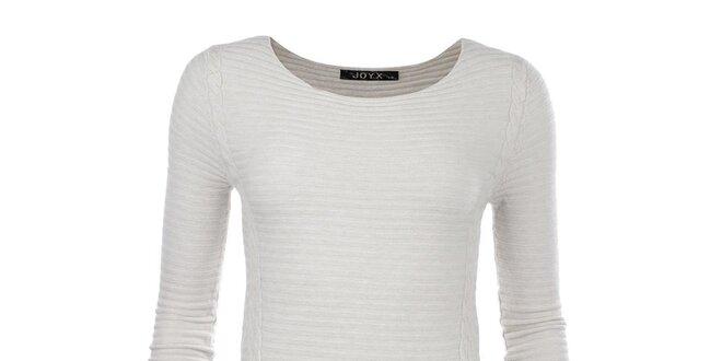 Dámský krémově bílý svetr se zipy JOYX