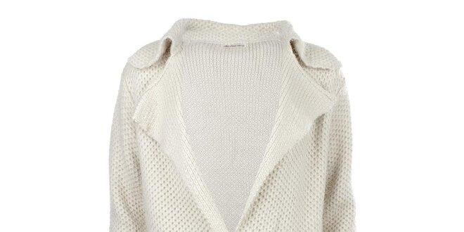 Dámský delší krémový svetr s kapsami For Ever