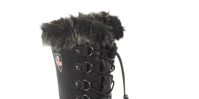 d1da9268b1e Dámské vysoké černé zimní boty Vertigo