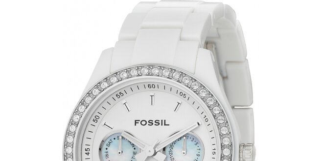 d07513b815c Dámské bílé hodinky Fossil
