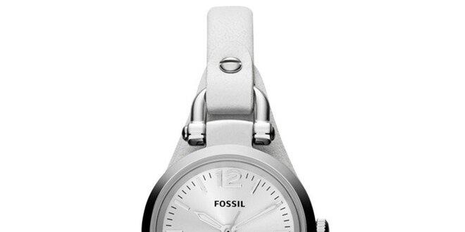 Dámské hodinky s bílým řemínkem Fossil