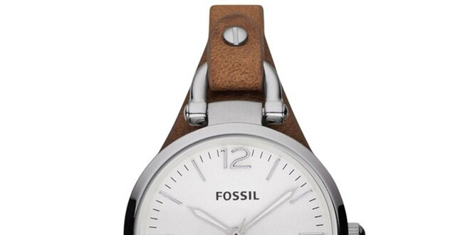 Dámské hodinky s koženým řemínkem Fossil  2950c853886