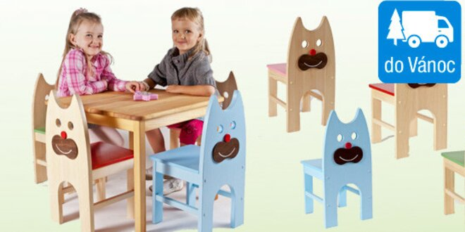 Dřevěné židle pro děti