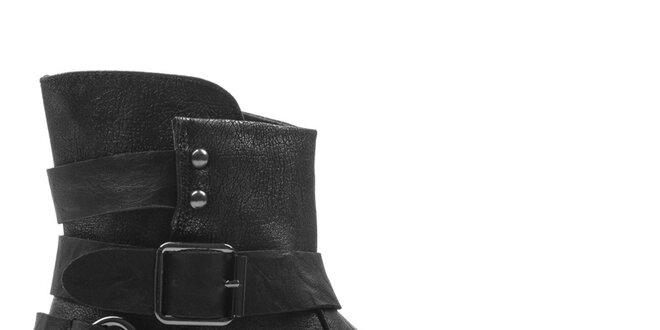 Dámské černé kotníkové boty Cats eyes