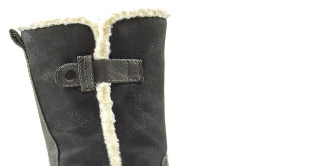Dámské tmavě šedé boty na zip Cats eyes