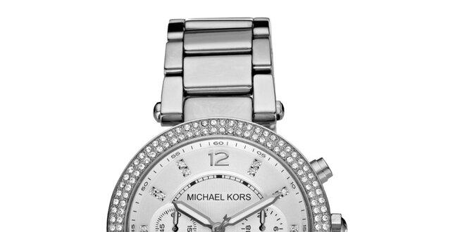4e37826a17 Dámské ocelové hodinky ve stříbrné barvě Michael Kors