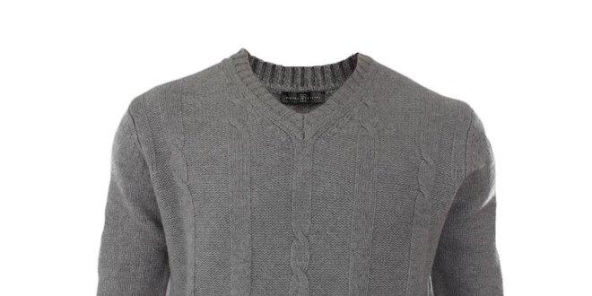 cec2e5fc942 Pánský šedý vlněný svetr Pietro Filipi