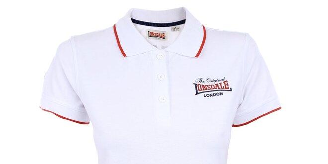 a4585de589fd Dámské bílé polo tričko Lonsdale